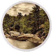 Solitary Wilderness Round Beach Towel