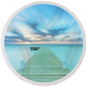 Round Beach Towel featuring the photograph Solitude by Evgeny Vasenev
