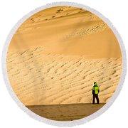 Solitude In The Dunes Round Beach Towel