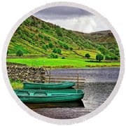 Solitude In The Lake District  Round Beach Towel