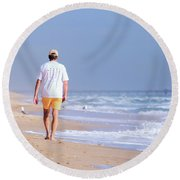 Round Beach Towel featuring the photograph Solitude by Keith Armstrong