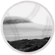 Round Beach Towel featuring the photograph Solitude by Living Color Photography Lorraine Lynch