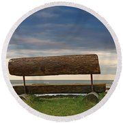 Round Beach Towel featuring the photograph Solitude.. by Nina Stavlund