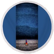Round Beach Towel featuring the photograph Solitude On Priest Lake by David Patterson