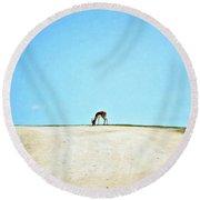 Round Beach Towel featuring the digital art Solitude by Sue Collura