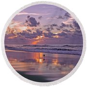 I Remember You Every Day  Round Beach Towel