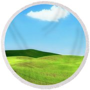 Solo Traveler Round Beach Towel