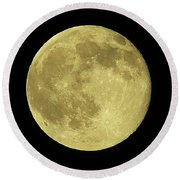 Solstice Moon Round Beach Towel