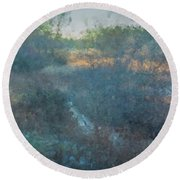 Solstice On The Meadows Round Beach Towel