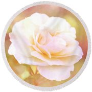 Solstice Rose Round Beach Towel