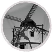 Solvang Windmill Round Beach Towel