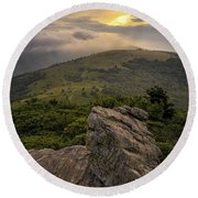 Rocky Sunset - Roan Mountain Round Beach Towel