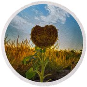 Some Flower Round Beach Towel