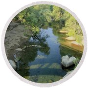 Round Beach Towel featuring the photograph Somerset Cosumnes by Sean Sarsfield