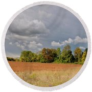 Round Beach Towel featuring the photograph Somerset Sky 3069 by Guy Whiteley