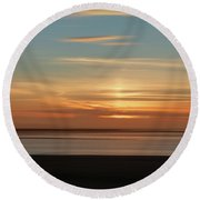 Round Beach Towel featuring the photograph Somerset Sunset by Lynn Bolt