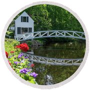 Somesville Bridge Round Beach Towel