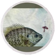 Round Beach Towel featuring the photograph Something Fishy by Mark Fuller