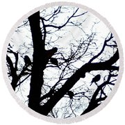 Something To Crow About Round Beach Towel by Sadie Reneau