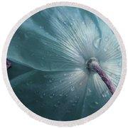 Sometimes Blue Round Beach Towel by The Art Of Marilyn Ridoutt-Greene