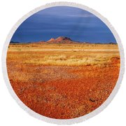 Somewhere In The Outback, Central Australia Round Beach Towel
