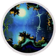 Somewhere In Time Round Beach Towel