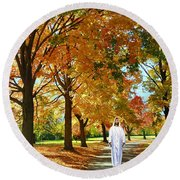Son Of God Round Beach Towel