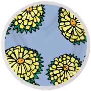 Sonchus In Color Round Beach Towel