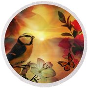 Song At Sunset Round Beach Towel