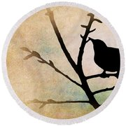 Song Bird Round Beach Towel