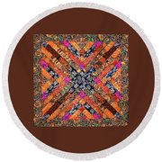 Song For A Globetrotter Extraordinaire  Round Beach Towel