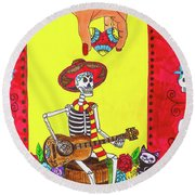 Song For The Soul Round Beach Towel