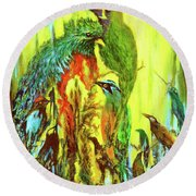 Song Of Costa Rica Round Beach Towel
