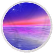 Song Of Night Sea Round Beach Towel by Dr Loifer Vladimir