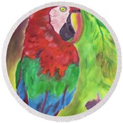 Song Of The Rainforest Round Beach Towel by Meryl Goudey