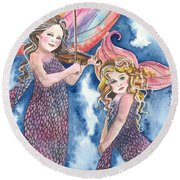 Song Of The Sirens Round Beach Towel