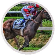 Songbird W Mike Smith Round Beach Towel
