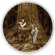 Songs In The Woods 2 Round Beach Towel