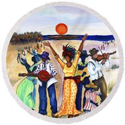 Songs Of Zion Round Beach Towel