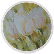 Sonnet To Tulips Round Beach Towel