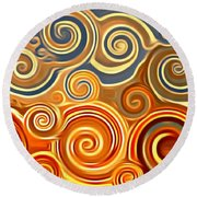 Sonora Sunrise  Round Beach Towel