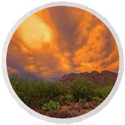 Round Beach Towel featuring the photograph Sonoran Sonata H16 by Mark Myhaver