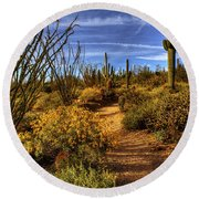 Sonoran Spring 01 Round Beach Towel