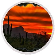 Sonoran Sunset H38 Round Beach Towel