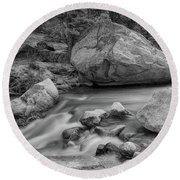 Soothing Colorado Monochrome Wilderness Round Beach Towel by James BO Insogna