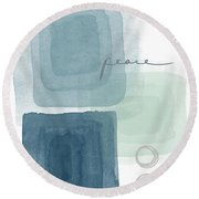 Soothing Peace- Art By Linda Woods Round Beach Towel