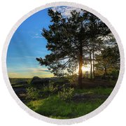 Round Beach Towel featuring the photograph Soothing by Rose-Marie Karlsen
