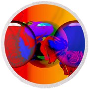 Round Beach Towel featuring the digital art Sophistacated Lady by Robert Orinski