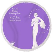 Sophisticated Lady Sheet Music Art Round Beach Towel