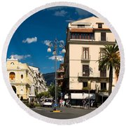Sorrento Italy Piazza Round Beach Towel